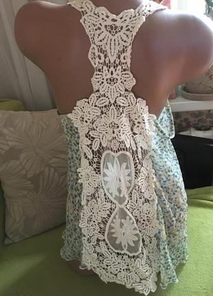 Шикарная блуза per una с ажурной спинкой