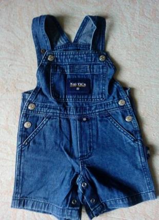 Модный детский джинсовый комбинезон