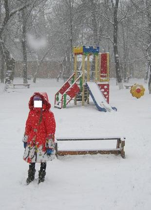 Пальто зимнее оригинальное для девочки