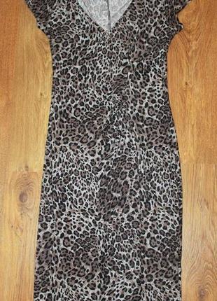 Платье сарафан dorothy perkins 38р. леопард анималистический п...