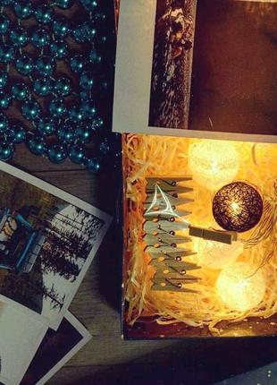 Печать фото. Подарочные набор. Новогодние подарки. Декор.Гирлянда
