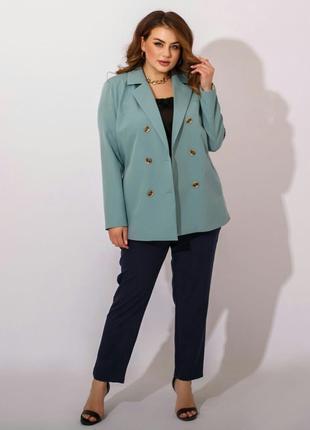 Классический пиджак женский на подкладке в деловом стиле больш...