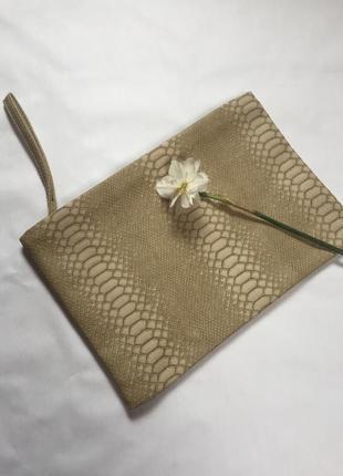 Стильный клатч сумка кожа эко на замке
