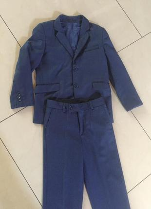 Костюм школьный для мальчика стильный пиджак+брюки