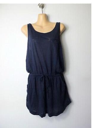 Лёгкое летнее платье сарафан 100% лён пляжное kenar
