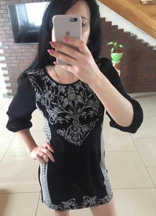 Нарядное платье трикотаж легкое с принтом next