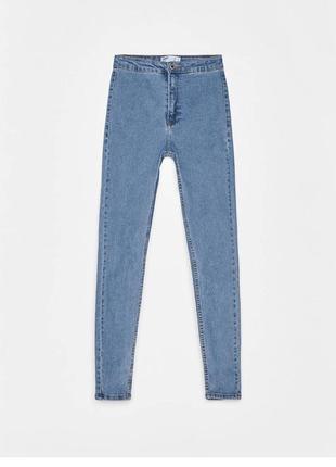 Стильные джинсы скинни с высокой посадкой завышенной талией ва...