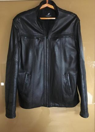 Мужская кожаная куртка натуральная кожа для мужчин классика на...