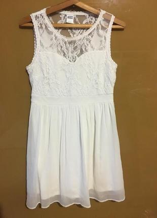 Шикарное 🔥🔥вечернее белое платье кружево гипюр нарядное vero moda