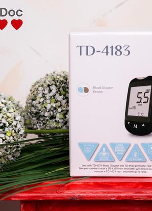 Глюкометр TaiDoc TD4183 контроль уровня глюкозы и кетонов в крови