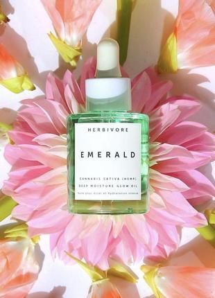 Увлажняющее масло для лица herbivore emerald cbd +adaptogens d...