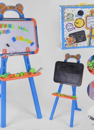 Мольберт для рисования с магнитными буквами и цифрами Доска зн...
