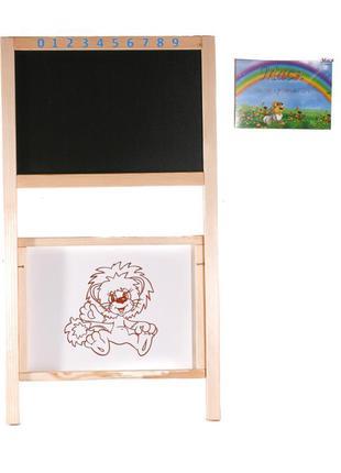 Детский двухсторонний магнитный мольберт Мася 042 МС | Мольбер...