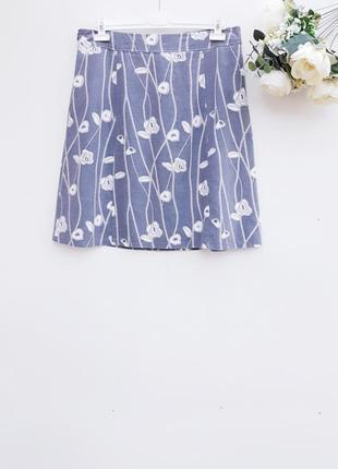 Летняя юбка миди льняная юбка миди с натуральной ткани