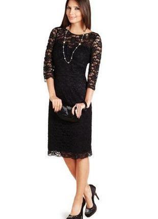 Стрейчевое кружевное платье по фигурe в пайетках 50-52 размера