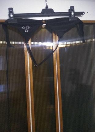 Детский модный черный купальник для девочки со звездами розмір M
