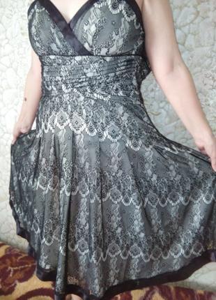 Платье женское, ажурное, вечернее