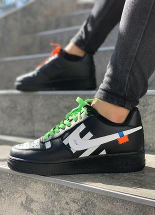 Мужской черные с белым кроссовки Nike Force