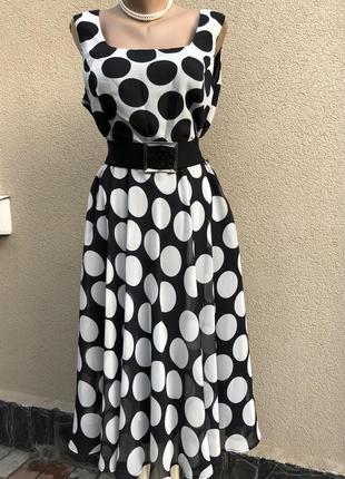Легкое,романтическое платье,сарафан в горохи,ретро стиль,