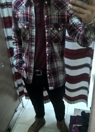 Новогодняя скидка!!! фланелевая мужская рубашка