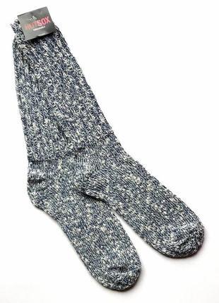 Тёплые мягкие высокие меланжевые мужские носки hot sox, 40-45
