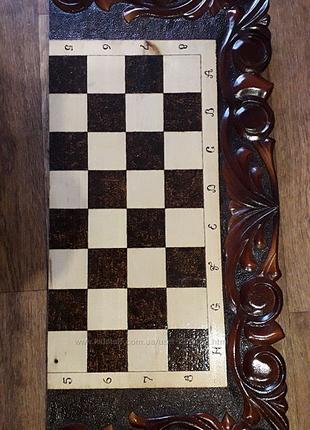 Шахматы+ нарды большие ручной работы