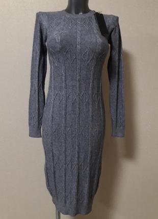 Супер-качественное,мега-теплое,25%кашемира,5%шерсти,платье-мид...