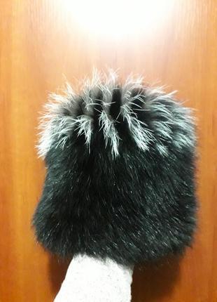 Теплая шапка из натурального меха