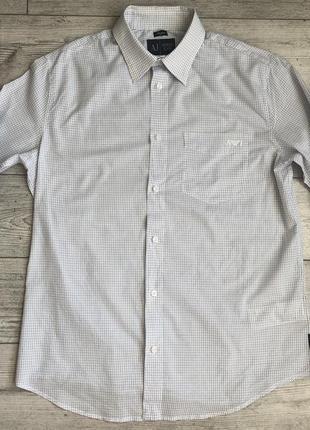 Сорочка\рубашка armani jeans regular fit check shirt