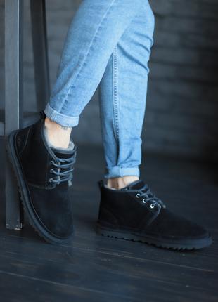Мужские черные ботинки UGG