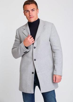 Мужское весеннее / осеннее серое пальто Asos Асос, Турция