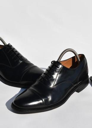 Loake мужские туфли оксфорды классические черные кожаные разме...