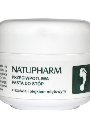 Дезодорант для ног (антиперспирант) с маслом шалфея и мяты, па...