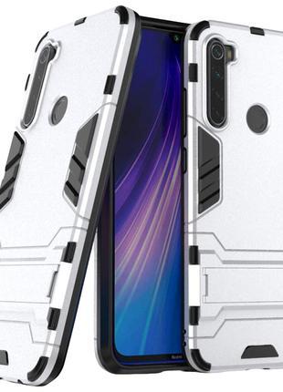 Противоударный чехол для Xiaomi Redmi Note 8 Silver