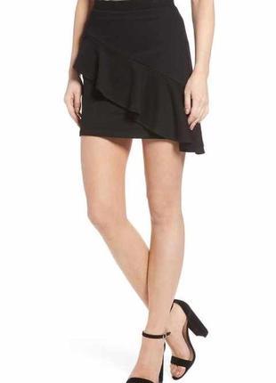 Новая,ассиметрия,чёрная юбка с рюшами,воланами,этно,бохо стиль...
