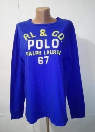 Хлопковая футболка с длинным рукавом ralph lauren uk 18-20 бол...