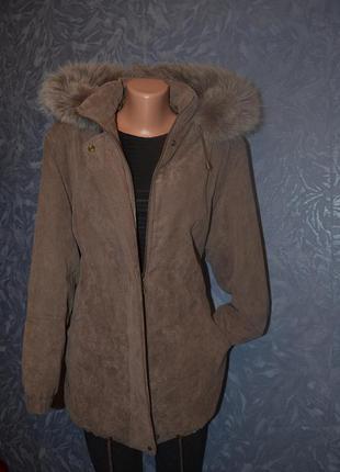 Женская зимняя парка куртка пуховик