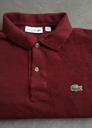 Lacoste мужской бордовый реглан кофта поло с рукавом