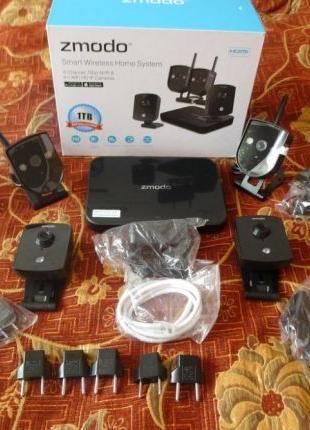 Zmodo 720p Комплект цифрового видеонаблюдения wi-fi 4 камеры 1...