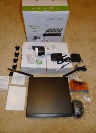 Цифровой Wi-fi комплект видеонаблюдения Hi-Tech 4CH 4 камеры 720P
