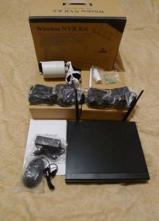 Цифровой комплект видеонаблюдения Wi-fi AKASO 720p 4 камеры 4 ...