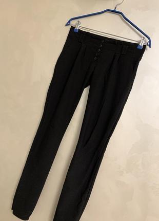 Оригинальные стильные утепленные брюки штаны