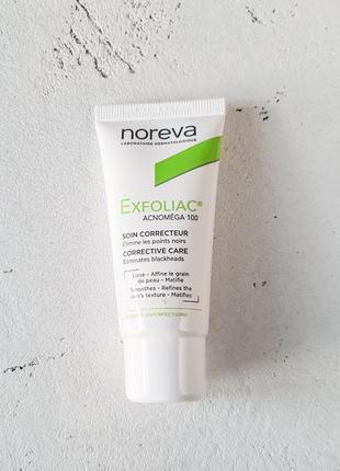 Крем c кислотами для жирной кожи noreva exfoliac acnomega 100