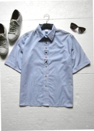 Актуальная рубашка в полоску с вышивкой