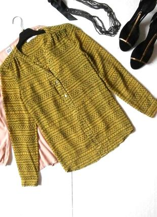Яркая шифоновая блуза блузка