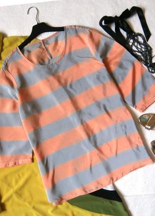 Стильная блуза блузка в полоску, полосатая блуза