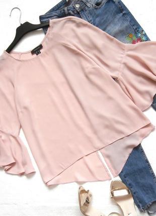 Нежная блуза atmosphere с воланами, рюшами, пудровая блузка