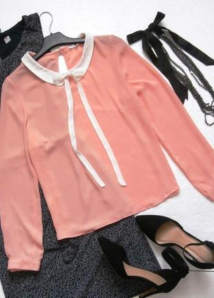 Романтичная шифоновая блуза блузка