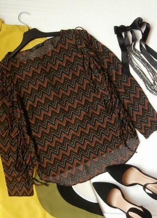 Интересная блуза блузка zara с бахромой