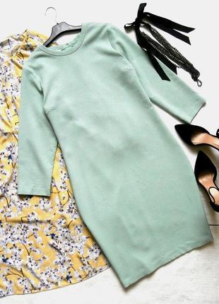 Элегантное мятное платье-футляр, платье миди